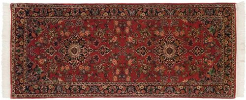 3×7 Kashan Red Oriental Rug Runner 030529
