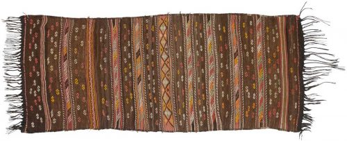 3×7 Kilim Brown Oriental Rug Runner 014187