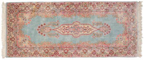 3×7 Persian Kerman Blue Oriental Rug Runner 017432
