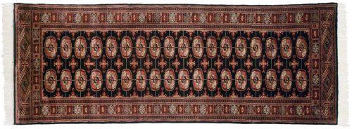3×8 Bokhara Black Oriental Rug Runner 021892