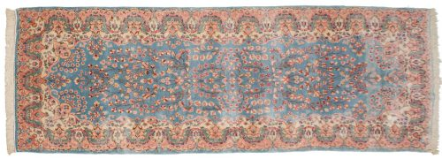 3×8 Persian Kerman Blue Oriental Rug Runner 017336