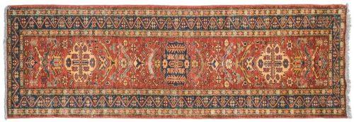 3×9 Kazak Rust Oriental Rug Runner 026080