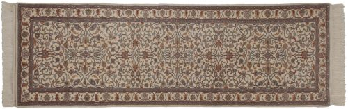 3×9 Kashan Ivory Oriental Rug Runner 033915