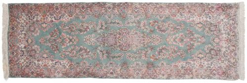 3×9 Persian Kerman Green Oriental Rug Runner 017388
