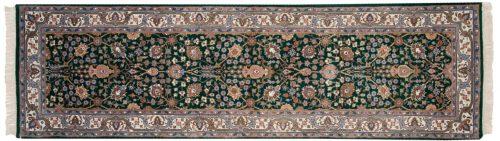 3×9 Tabriz Green Oriental Rug Runner 016394