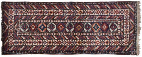 4×10 Persian Atraf Multi Color Oriental Rug Runner 034975