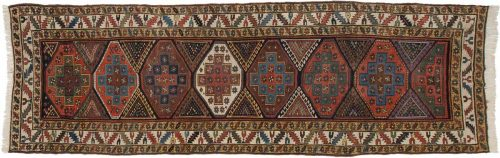 4×13 Kazak Multi Color Oriental Rug Runner 011349