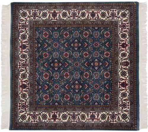 4×4 Bijar Blue Oriental Square Rug 031422