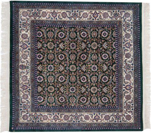 4×4 Bijar Green Oriental Square Rug 031505