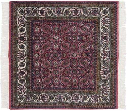 4×4 Bijar Rose Oriental Square Rug 030692