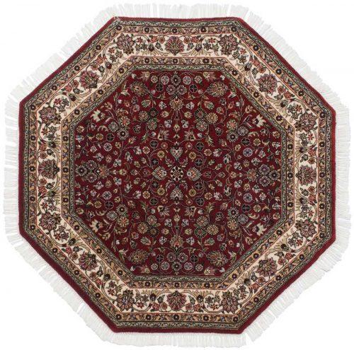 4×4 Kashan Red Oriental Octagon Rug 042397
