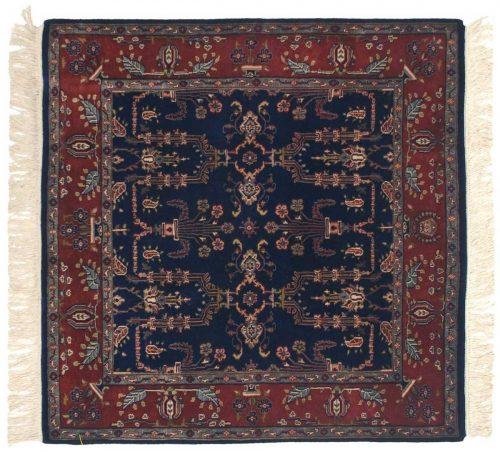 4×4 Sarouk Blue Oriental Square Rug 045957