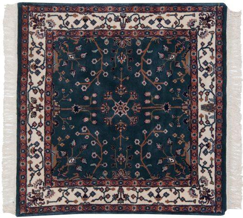 4×4 Sarouk Teal Oriental Rug 031100