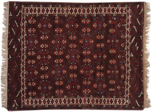 4×5 Bokhara Brown Oriental Rug 014020