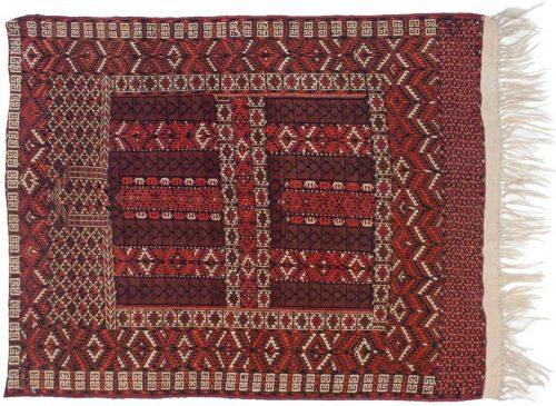 4×5 Bokhara Brown Oriental Rug 014030