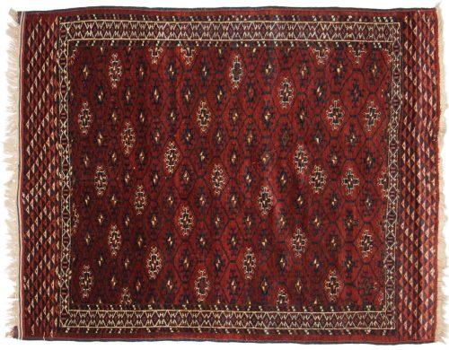 4×5 Bokhara Red Oriental Rug 014017