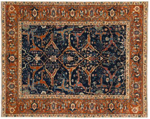 4×5 Chobi Blue Oriental Rug 048964