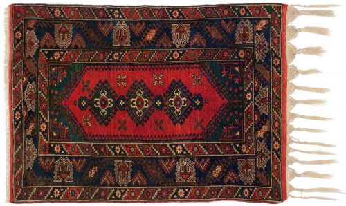 4×5 Doesemealte Red Oriental Rug 029819
