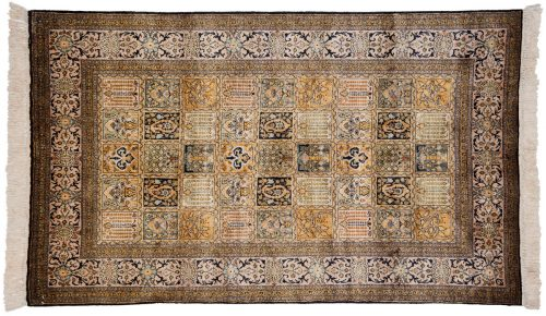 4×5 Kashmir Multi Color Oriental Rug 013182