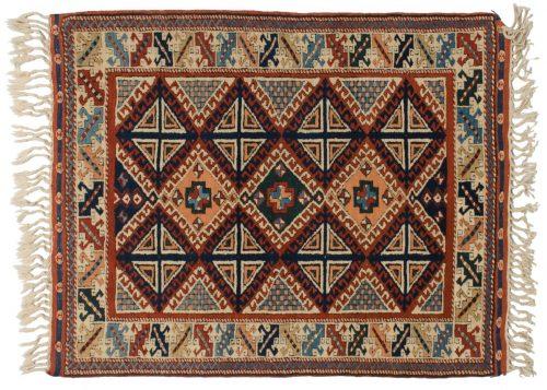 4×5 Kazak Rust Oriental Rug 013718