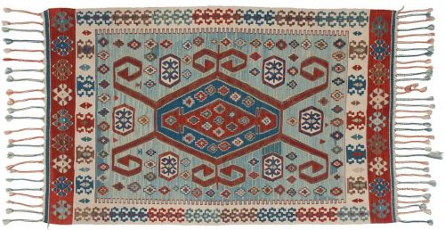 4×5 Kilim Blue Oriental Rug 034563