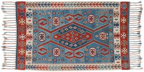 4×5 Kilim Blue Oriental Rug 034566