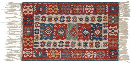4×5 Kilim Ivory Oriental Rug 034564