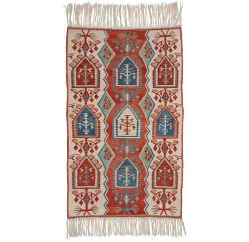4×5 Kilim Ivory Oriental Rug 034567