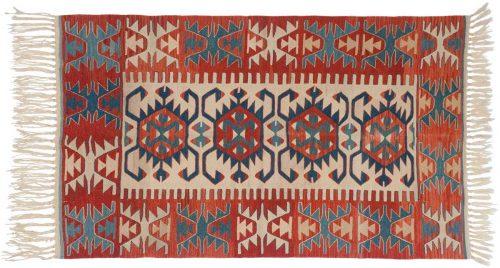 4×5 Kilim Ivory Oriental Rug 034592