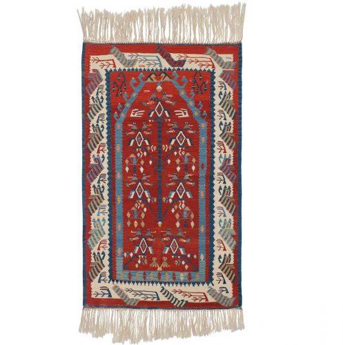 4×5 Kilim Red Oriental Rug 034635