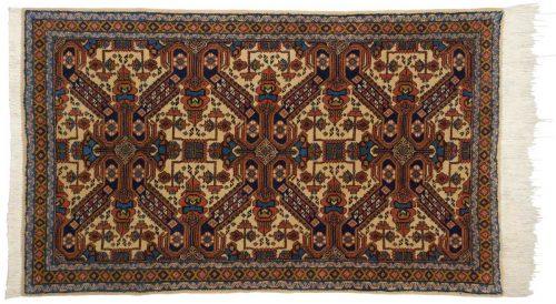 4×5 Persian Ardebil Ivory Oriental Rug 035594