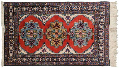 4×5 Persian Ardebil Rose Oriental Rug 035595