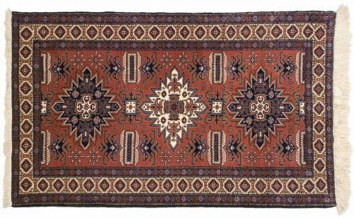 4×5 Persian Ardebil Rust Oriental Rug 035560
