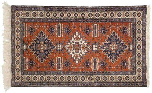 4×5 Persian Ardebil Rust Oriental Rug 035563