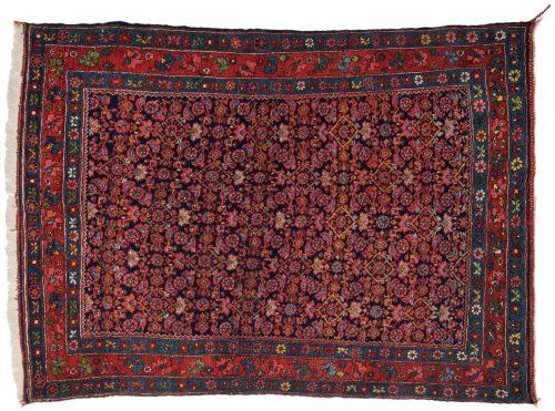 4×5 Persian Bijar Blue Oriental Rug 011193
