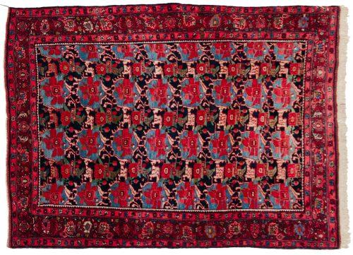 4×5 Persian Bijar Blue Oriental Rug 011249