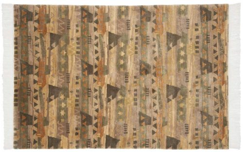 4×6 Abstract Multi Color Oriental Rug 038089