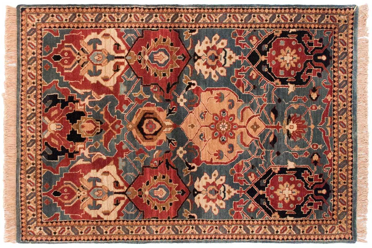 4x6 Agra Blue Oriental Rug 038427