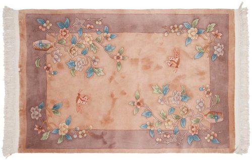 4×6 Art Deco Peach Oriental Rug 018433