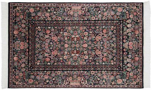 4×6 Aubusson Black Oriental Rug 026025