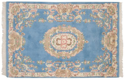 4×6 Aubusson Blue Oriental Rug 015095