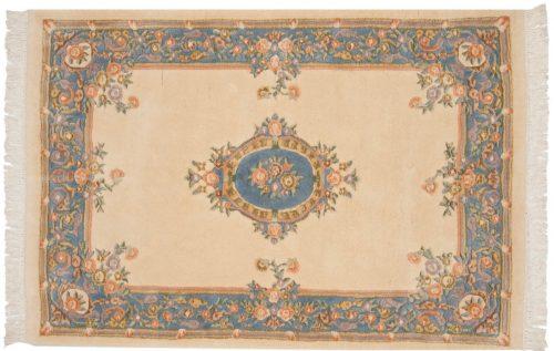 4×6 Aubusson Ivory Oriental Rug 014824