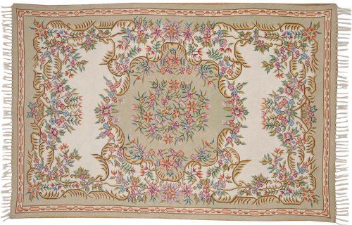 4×6 Aubusson Ivory Oriental Rug 022404