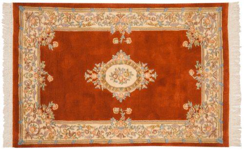 4×6 Aubusson Rust Oriental Rug 014421