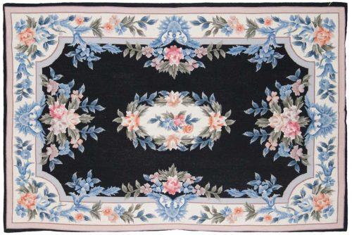 4×6 Cameo Black Oriental Rug 013960