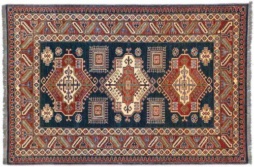 4×6 Kazak Blue Oriental Rug 026085