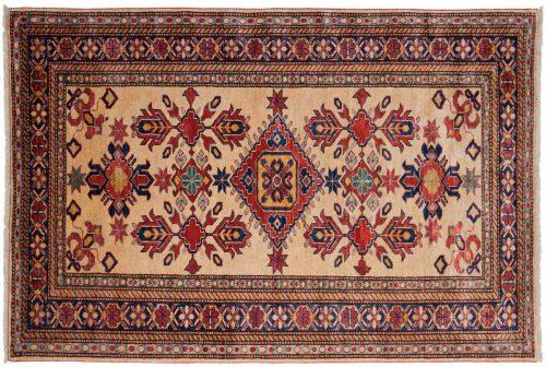 4×6 Kazak Ivory Oriental Rug 026191