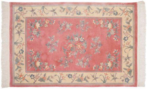 4×6 Kashan Rose Oriental Rug 029137