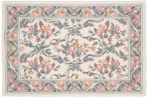 4×6 Floral Bouquet Ivory Oriental Rug 029614