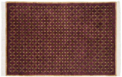 4×6 Modern Burgundy Oriental Rug 038498